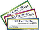 Gift Certificates Are Available From $25.00 Up